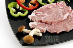 Chuletas de aguja de cerdo blanco Masmit
