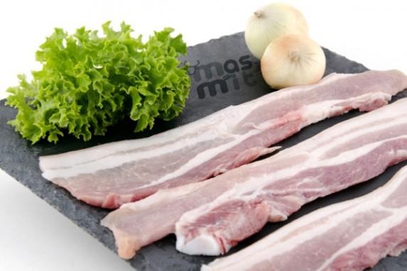 Panceta de cerdo fileteada Masmit