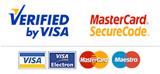 Aceptamos visa y mastercard como métodos de pago